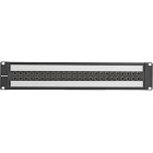 2RU Video Patchbay, w/24 Normal Through Video Jacks, Black